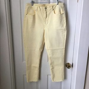 Maurice's high rise ankle pants Yellow size 15/16